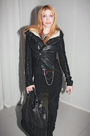 Courtney Love at the Rick Owens défilé Sunday
