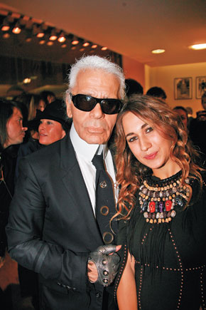 Karl Lagerfeld and Delfina Delettrez Fendi