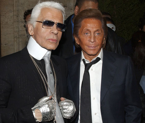 Karl Lagerfeld and Valentino