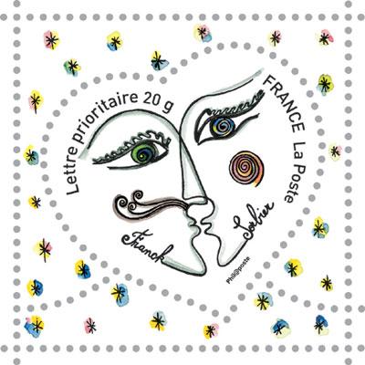 Franck Sorbier stamp for LaPoste