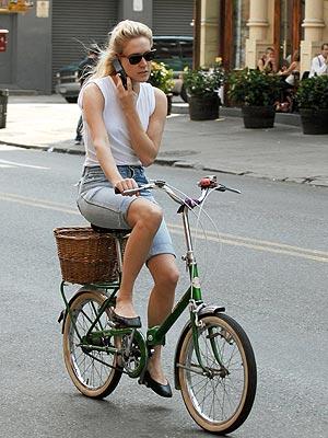 Chloë Sevigny cycling inSoho